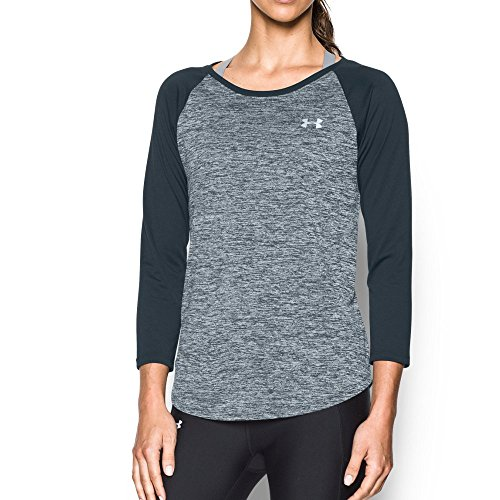 Under Armour Women's Tech 3/4 Sleeve - Twist, Stealth Gray , Large