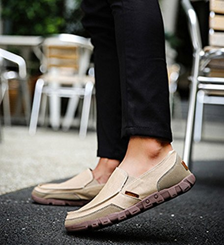 Casual Zapatos Barco Dooxi Negocio Loafer de Planos Hombre Moda Zapatos Caqui 5wqq6Ix