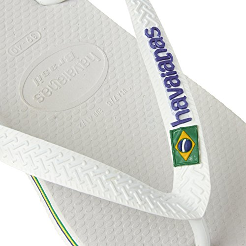 Havaianas Flip Flops - Havaianas Brasil Logo Flip Flops - White