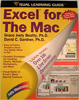 Book Excel 5 for the Mac Visual Learning Guide