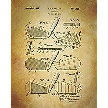 "Patent Print Vintage Reproduction ""Golf Clubs"" Art Print Home Decor Print Wall Art Poster Sports Decor Man Cave"