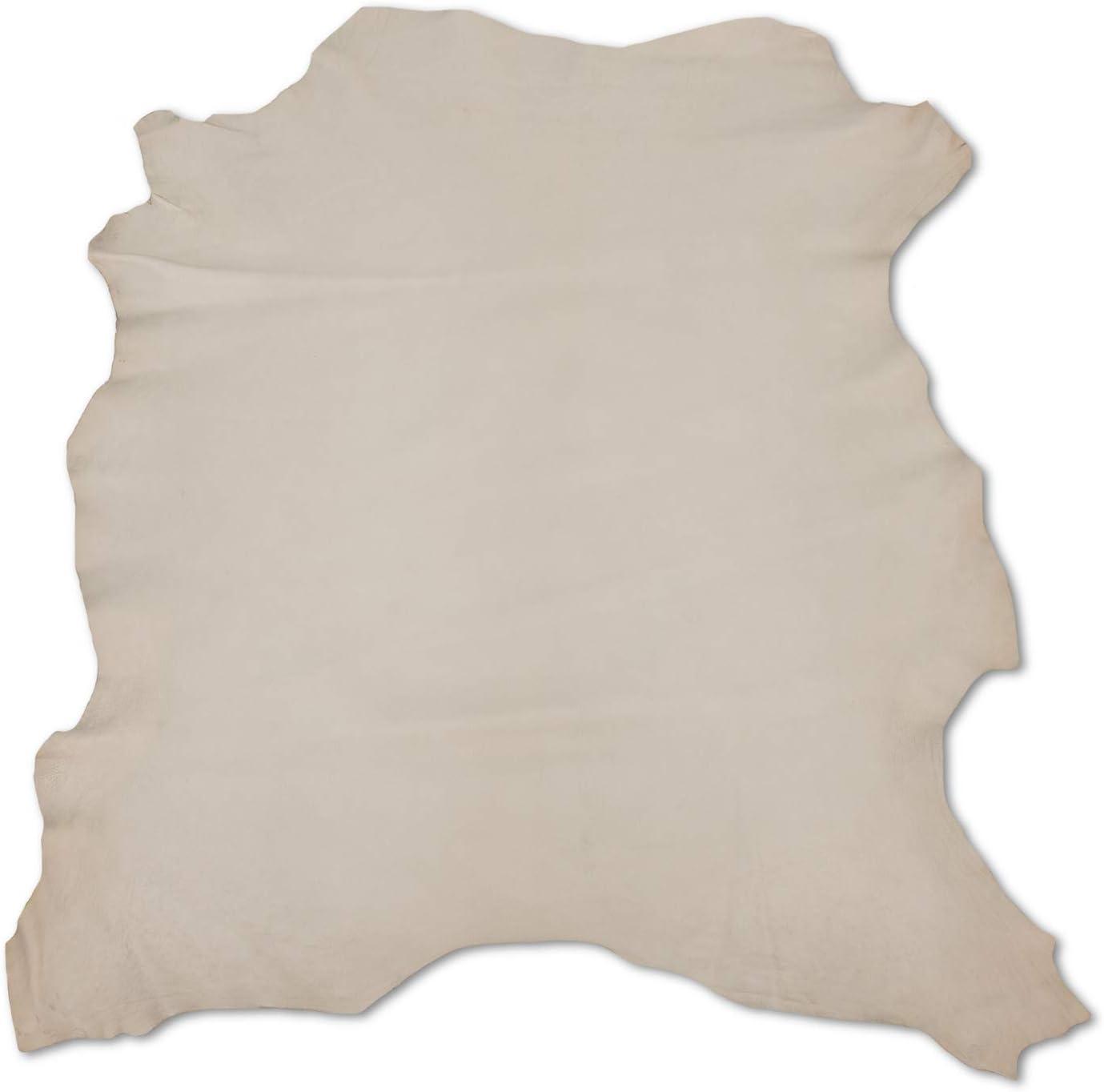 Zerimar Piel Cuero | Pieles Cuero Natural | Retales de Piel para Manualidades | Piel para Artesanos | Retal Cuero | Retales de Cuero | Color: camel | Medidas: 90x80 cm