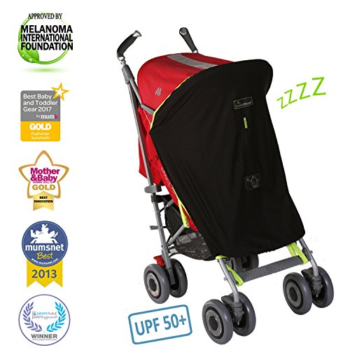 Stroller Sunshade - SnoozeShade Original | Stroller sunshade and blackout blind | Blocks 99% of UV | Air-permeable and universal fit