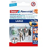 tesa 58000 Powerstrips Large, Removable Self Adhesive Strips (10 Strips) by tesa UK