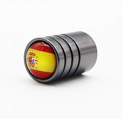 4 unids/lote bandera de España Emblema Coche Bicicleta Moto Neumáticos Rueda Neumático Válvula de Aire Tapas Cubierta de Vástago Accesorios Decoración: Amazon.es: Coche y moto