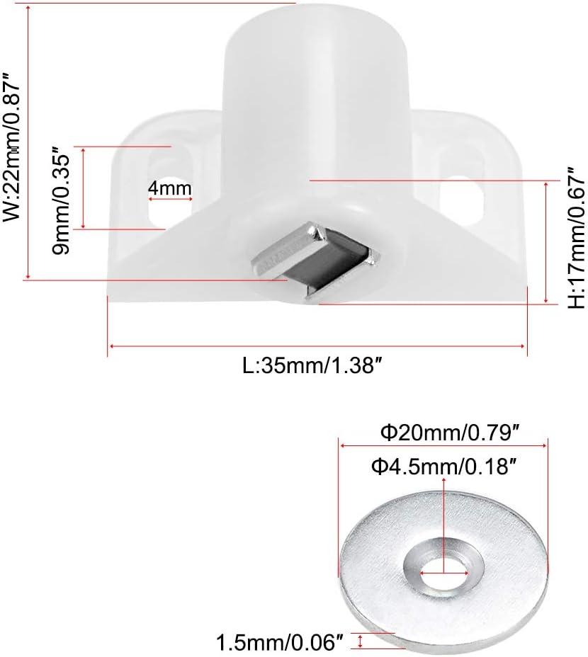Cierre magn/ético para puertas y armarios Sourcingmap 6 unidades