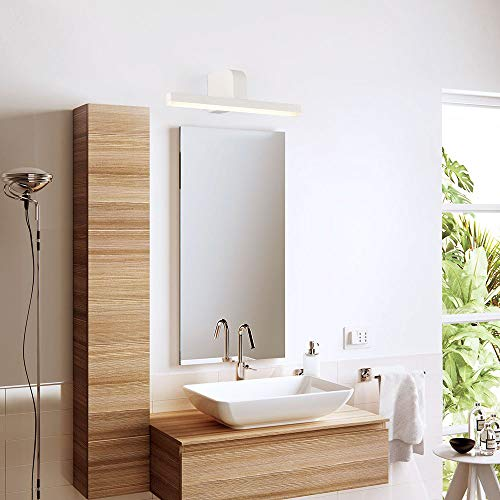 ECOBRT LED Bath Mirror Lamps 9W Vanity Lights in Bathroom Over Mirror White LED Wall Light Fixtures Indoor IP44 40cm Long 4000K