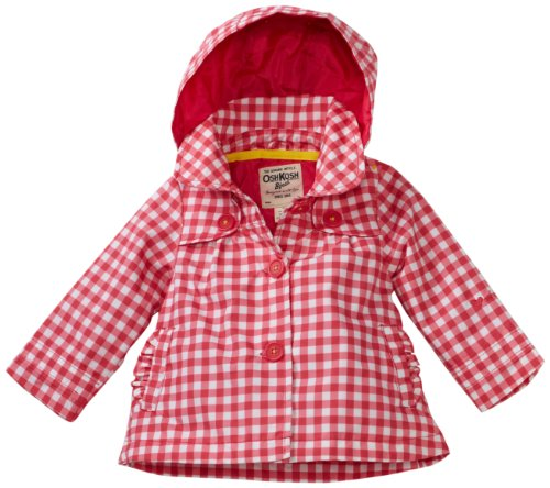 Osh Kosh Baby Girls' Gingham Trench Coat