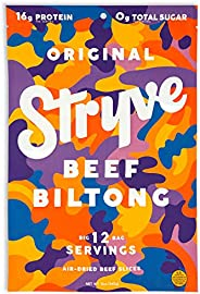 Stryve Biltong, Beef Jerky without the Junky. 16g Protein, Sugar Free, No Carbs, Gluten Free, No Nitrates, No