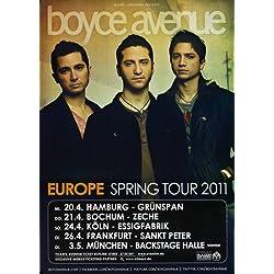 Boyce Avenue - Spring Tour 2011 - Concert Poster Plakat
