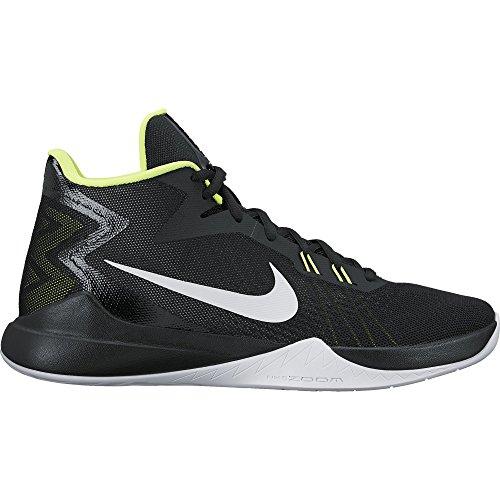 NIKE Men's Zoom Evidence Basketball-Shoes, Black/White Volt, 9 D US