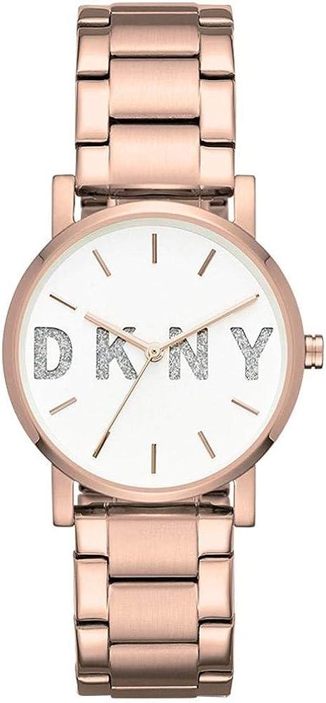 DKNY Reloj Analógico para Mujer de Cuarzo con Correa en Acero Inoxidable NY2654