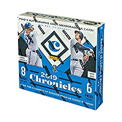 Configuration: 8 cards per pack. 6 packs per box. Look for 3 autos, 1 memorabilia, and 2 spectra base cards per box on average!2019 Chronicles features the following new brands: America's Pastime (newly designed), Ascension, Playoff, Timeless Treasur...