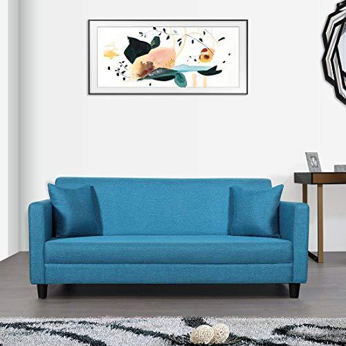 Trevi Riya 3 Seater Fabric Sofa  Blue