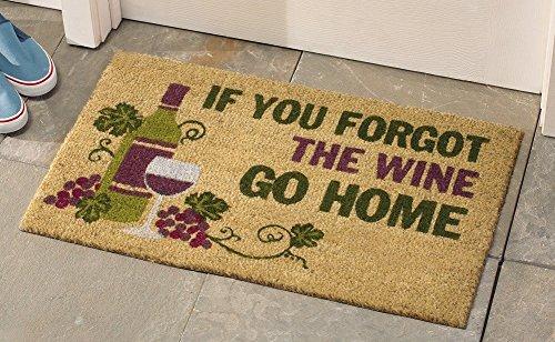 Decorative Wine Coco Mat Tuscan Grape Vineyard Wine Kitchen Home Accent Rug Runner Decor
