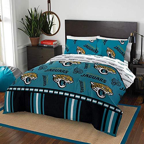 The Northwest Company NFL Jacksonville Jaguars Queen Bed in a Bag Complete Bedding Set #766471219