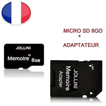 Tarjeta de Memoria Micro SD 8 GB Clase 10 + Adaptador SD ...