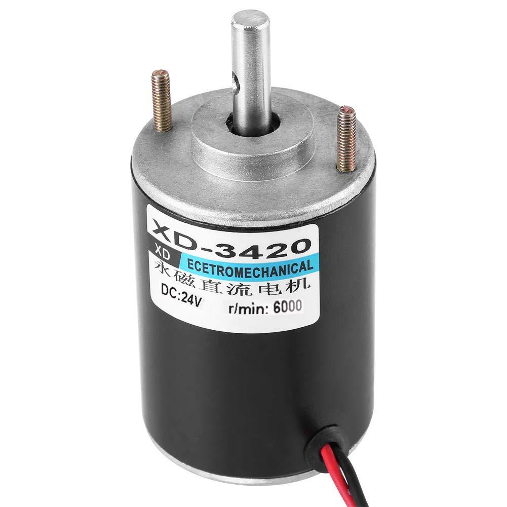 confezione socialme-eu generatore di potenza DIY 24V Magneti permanenti XD-3420 30 W alta velocit/à motore DC ad alta velocit/à CW//CCW 6000 RPM