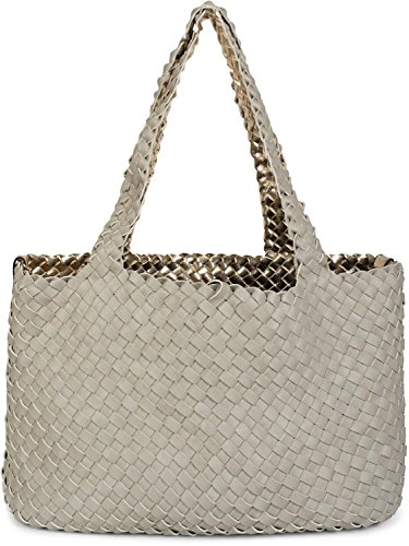 in Gold XXL Light 2 bag bags shoulder bag ladies Grey Grey reversible hand bag woven Color Gold Light look bag set 02012163 bag shopping in bag styleBREAKER ST68BxqwdS