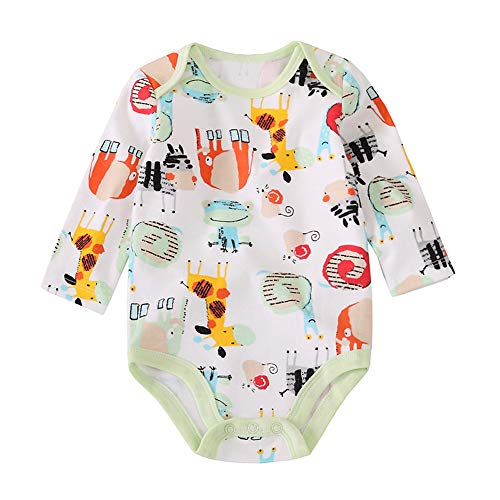 Qazsx Unisex Baby Bodysuits Baby Boy Girl Clothes Rompers Jumpsuits Long Sleeve 0-24M