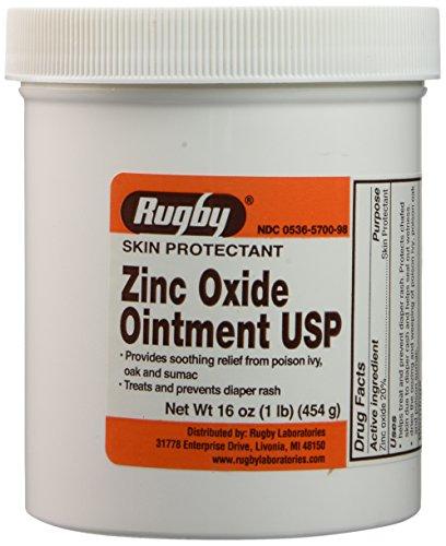 Zinc Oxide 20 % Skin Protectant Ointment for Diaper Rash, Chaffed Skin 1 Lb. Jar Pack of 2 Jars Total 2 Lbs (2)
