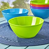 Fresco 6-inch Plastic Bowls for Cereal or Salad