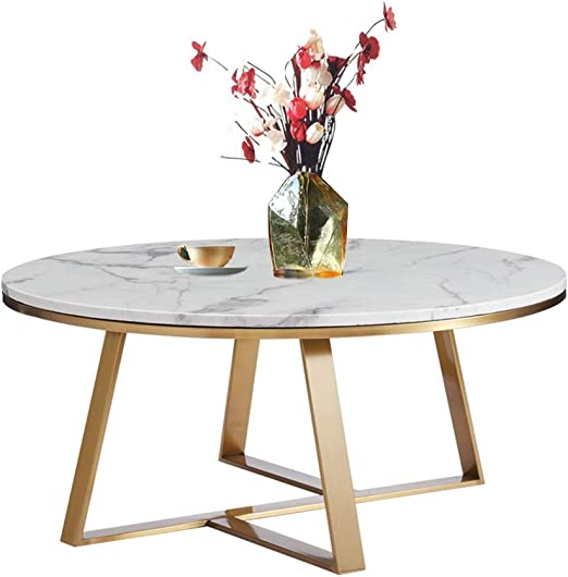 Kuku Coffee Table Nordic Wrought Iron Round White Sofa Coffee
