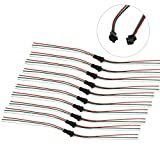 3 pin female plug - HKBAYI® 10Pair / 10sets 3 pin JST SM Male Female plug LED Connector Cable For WS2812B WS2812 WS2811 LED Strip Lamp with 15cm Long Wire