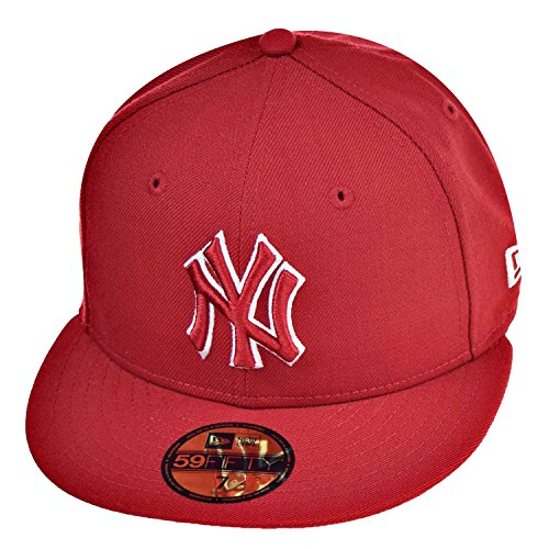 fd12d3881d308a New Era New York Yankees 59Fifty Men's Fitted Hat Cap Red/White 70387043  (Size 7 1/8) - Buy Online in KSA. Apparel products in Saudi Arabia. See  Prices ...