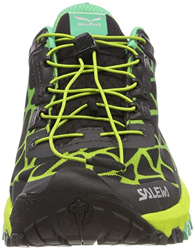 Calzado De Trail Running Salewa Hombres Multi Track-m Black / Ming Green