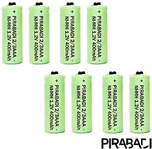 8 Pilas ACCU 2/3 AAA Recargables 400 mAh 1,2 V Ni-MH Pirabadi para teléfono Fijo Marca 100% Francesa: Amazon.es: Electrónica