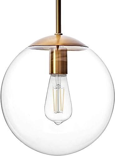 MOTINI Large Globe Pendant Light Fixture 10 Inch