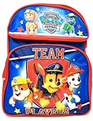 New Nickelodeon Paw Patrol 14 Canvas Blue and Red School Backpack