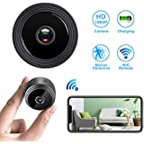 WiFi Hidden Spy Camera,Mini Spy Camera HD 1080P Wireless Security Camera for Home Nanny Cam with Night Vision Motion Detection, Built-in Magnetic Fit Indoor Outdoor Recording