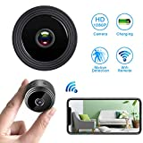 Mini Spy Camera WiFi Hidden Camera,HD 1080P Wireless Security Camera for Home Nanny Cam with Night Vision Motion Detection, Built-in Magnetic Fit for Indoor Outdoor Recording