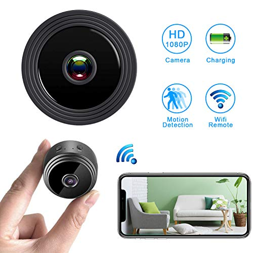 WiFi Hidden Spy CameraMini Spy Camera HD 1080P Wireless Security Camera for Home Nanny Cam with Night Vision Motion Detection, Built-in Magnetic Fit Indoor Outdoor Recording