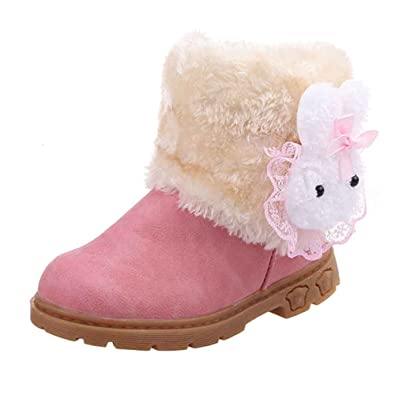 12-36Months Winter Baby Girl Child Style Cotton Boot Warm Wool Snow Boots Shoes