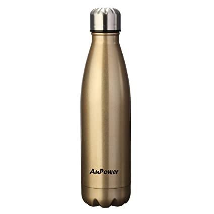 546ddc538a5 AuPower 17oz 500ML Double Wall Vacuum Insulated Stainless Steel Water Bottle  Proof Hand Portable Summer Outdoor