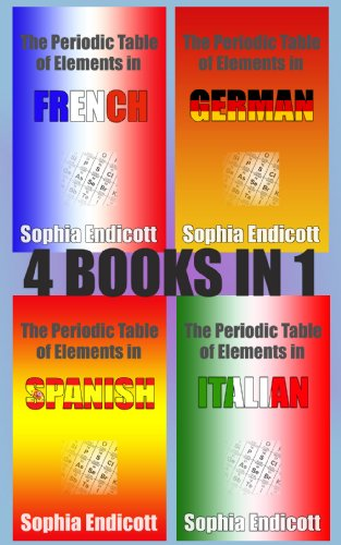 The periodic table of elements in french german spanish and the periodic table of elements in french german spanish and italian 4 books urtaz Image collections
