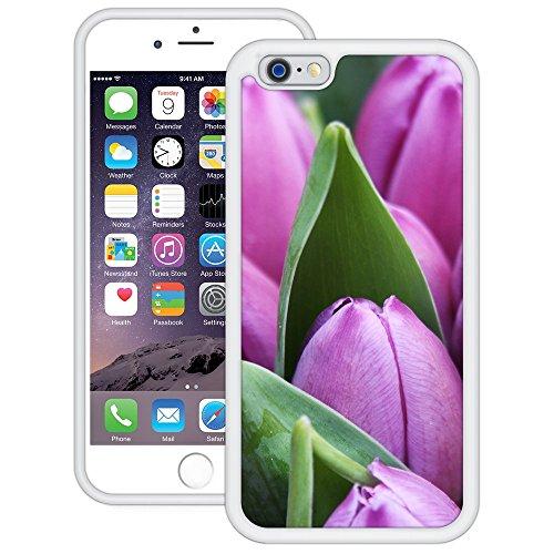 Lila Tulpen   Handgefertigt   iPhone 6 6s (4,7')   Weiß Hülle