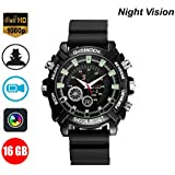 NT-LING HD Watch Camera, Portable Watch Hidden 1080P HD Wristband Watch Cameras Multifunctional Smart Wrist Waterproof Watch Built-in 16GB
