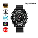 HD Watch Camera, Portable IR Night Vision Hidden Watch the camera 1080P Watch cameras, Multifunctional Smart Wrist Waterproof Watch 16GB DVR Cameras (1080P)