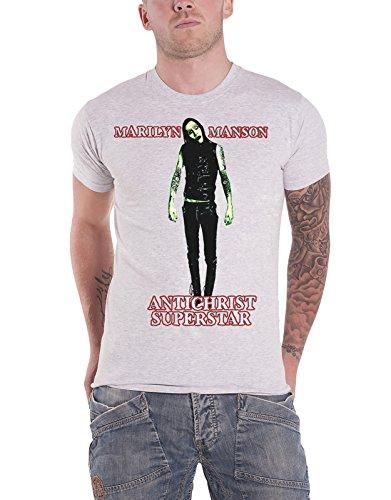 Marilyn Manson T Shirt Antichrist Superstar Band Logo Official Mens White
