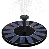 WBPINE Solar Fountain Pump, Solar Powered Floating Fountain Kit Solar Water Fountain Bird Bath Pond, Pool Garden Decoration