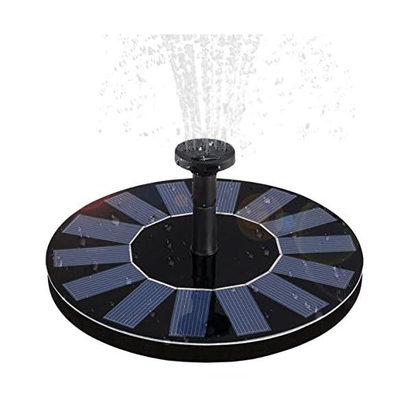51vhtY%2B EaL. SS600  - Solar Fountain Pump,WBPINE Solar Powered Floating Fountain Kit Solar Water Fountain for Bird Bath Pond, Pool and Garden Decoration