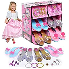 Every little princess needs a perfect pair of shoes to complete the total package. Your little one will love feeling like a princess when she slips these super cute shoes on! This Boutique Collection includes 4 pairs of shoes in different sty...