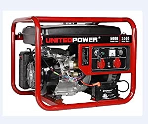 United Power GG6200, 5500 Running Watts/6000 Starting Watts, Gas Powered Portable Generator