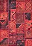 "Loloi Contemporary Rectangle Area Rug 7'10""x11' Red Beymen Collection"