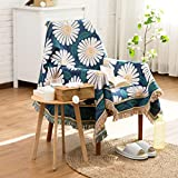 bbpawing Pastoral Style Small Daisy Printed Sofa Towel Sofa Full Cover Multi-function Blanket