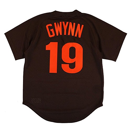 Tony Gwynn San Diego Padres Brown Authentic Mesh Batting Practice Jersey Large